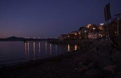 Anguillara на ноче Стоковая Фотография RF