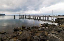 Anguillara码头 免版税库存图片