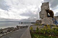 Anguillara码头 免版税库存照片