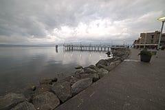 Anguillara码头 免版税图库摄影