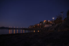 Anguillara på natten Royaltyfri Bild