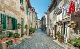 Anguillara Sabazia, провинция Рима, Лацио Италия Стоковое фото RF