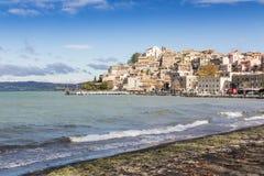 Anguillara Sabazia, Bracciano jezioro, Włochy Obraz Royalty Free