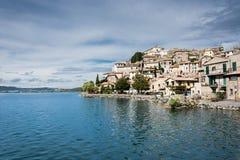 Anguillara Sabazia, Italien, Lago di Bracciano Royaltyfria Foton