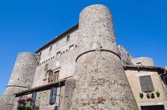 Anguillara slott. Ronciglione. Lazio. Italien. Royaltyfri Fotografi