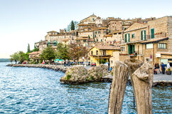 Anguillare Sabazia - λίμνη της Ρώμης - Bracciano - Ιταλία Στοκ Φωτογραφία