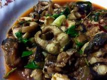 Anguille frite épicée Photo libre de droits