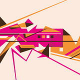 Angular abstract illustration. Royalty Free Stock Photography