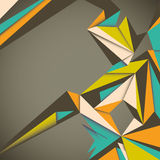 Angular abstraction. Angular abstraction with colorful shapes Royalty Free Stock Photography