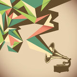 Angular abstraction. Angular abstraction with old gramophone Stock Photography
