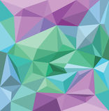 Angular background wallpaper in blue green and purple Royalty Free Stock Photos