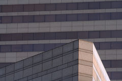 Angular Building. Juxtaposition of two office buildings near downtown Charlotte, North Carolina Stock Photography