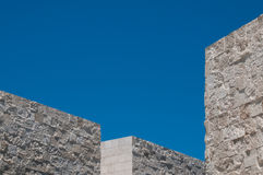 Angular Building in Abstract Stock Photo