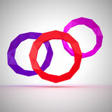 Angular circles Stock Images