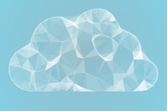 Angular cloud design in white Royalty Free Stock Images