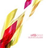Angular geometric color shape Royalty Free Stock Image