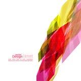 Angular geometric color shape Stock Images