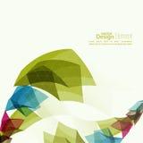 Angular geometric color shape Royalty Free Stock Images