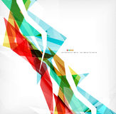 Angular geometric color shapes Royalty Free Stock Images