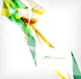Angular geometric color shapes Royalty Free Stock Image