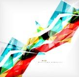 Angular geometric color shapes Royalty Free Stock Photos