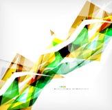 Angular geometric color shapes Stock Photography