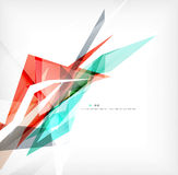 Angular geometric color shapes Stock Images