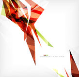 Angular geometric color shapes Royalty Free Stock Photography