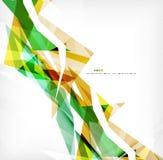 Angular geometric color shapes Royalty Free Stock Photo