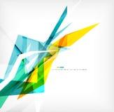 Angular geometric color shapes Stock Photos