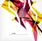 Angular geometric color shapes Stock Image