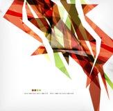Angular geometric color shapes Stock Photo