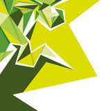 Angular green abstraction. Angular green abstraction with composed shapes Stock Images