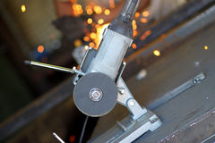 Angular grinder. Royalty Free Stock Photos
