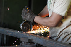 Angular grinder. Royalty Free Stock Image
