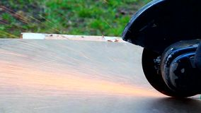 Angular grinding machine stock footage