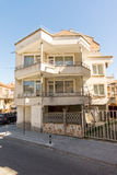 Angular house at the crossroads in the Bulgarian town of Pomorie Stock Images