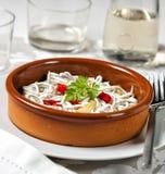 Angulas, παραδοσιακό ισπανικό πιάτο tapas Στοκ εικόνα με δικαίωμα ελεύθερης χρήσης