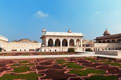 Anguri bagh και Khas Mahal στο κόκκινο οχυρό Agra Στοκ Φωτογραφίες