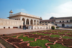 Anguri bagh and Khas Mahal in Red Agra Fort Stock Images