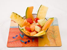 Anguria ed ananas Immagini Stock