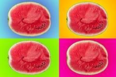 Anguria, stile di Pop art Fotografie Stock