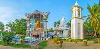 Angurukaramulla buddistisk tempel i Negombo Arkivfoton