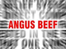 Angus Beef ilustración del vector