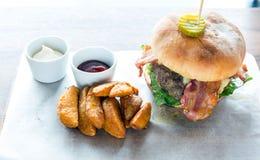 Angus beef Hamburger Stock Images