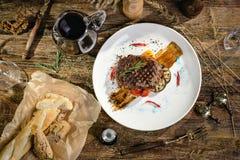 Angus-beef  Ribeye Steak Stock Images