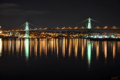 Angus L. Macdonald Bridge Halifax Royalty Free Stock Photography