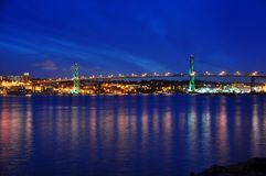 Angus L. Macdonald Bridge in Halifax Royalty Free Stock Photos