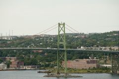 Angus L. Macdonald Bridge - Halifax - Nova Scotia. Angus L. Macdonald Bridge in Halifax - Nova Scotia Royalty Free Stock Image