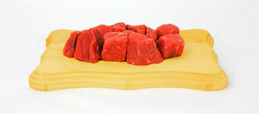 Angus Round Stew Beef Royalty Free Stock Images